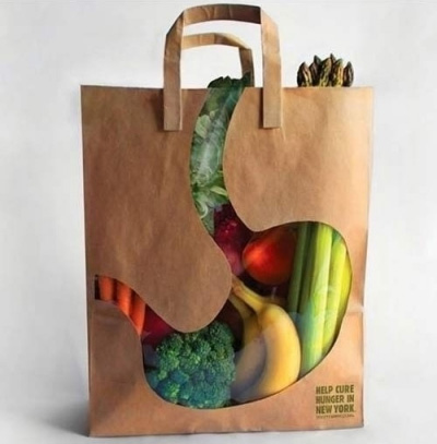 clever and beautiful package design grocery bag