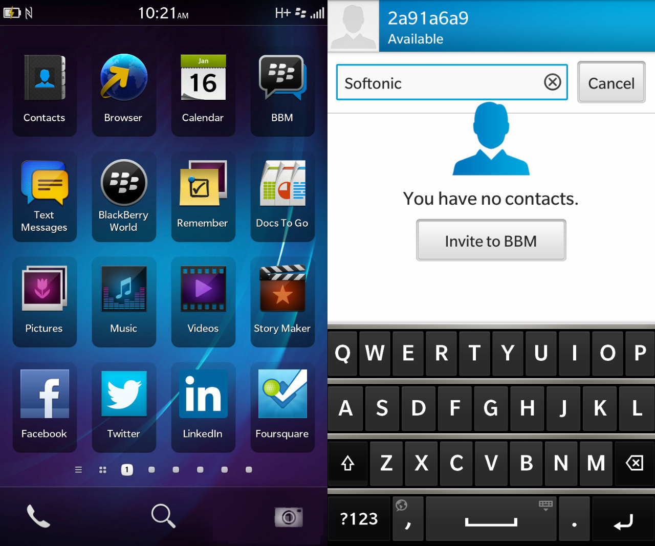 Blackberry 10 OS design