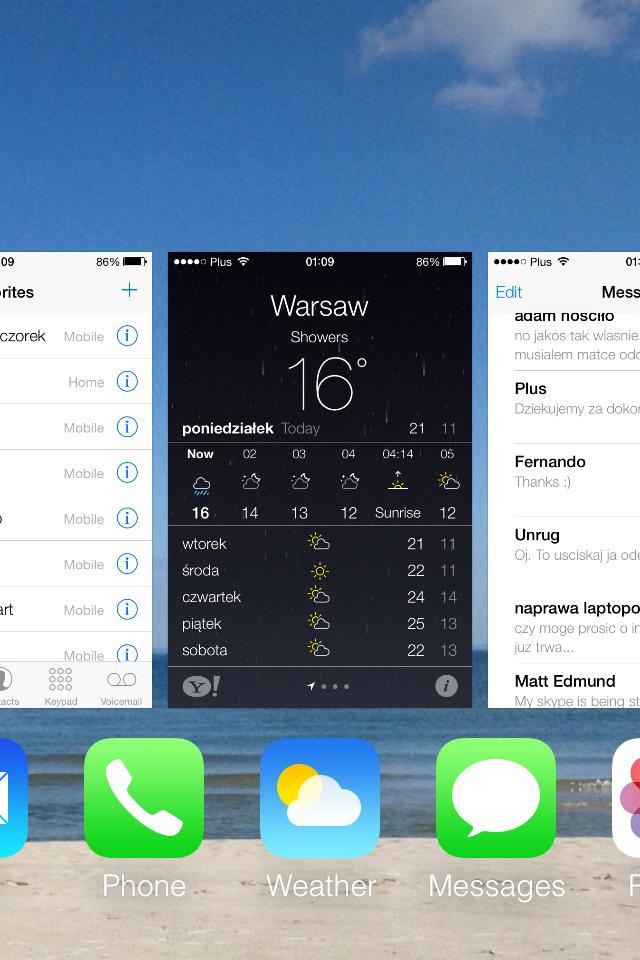 iOS 7 multitasking screenshot