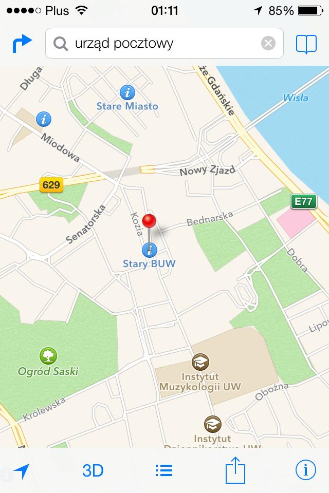 iOS 7 maps screenshot