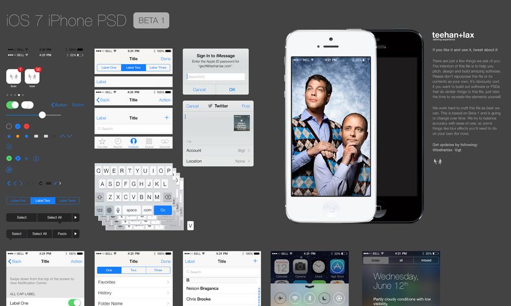 iOS 7 UI PSD