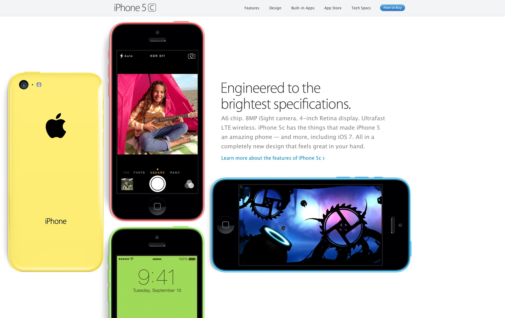 Apple modern website design iphone 5c