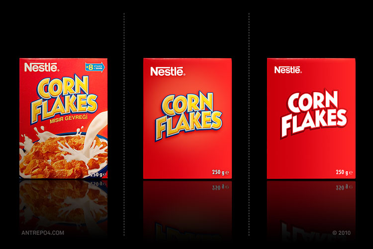 corn flakes minimal redesign