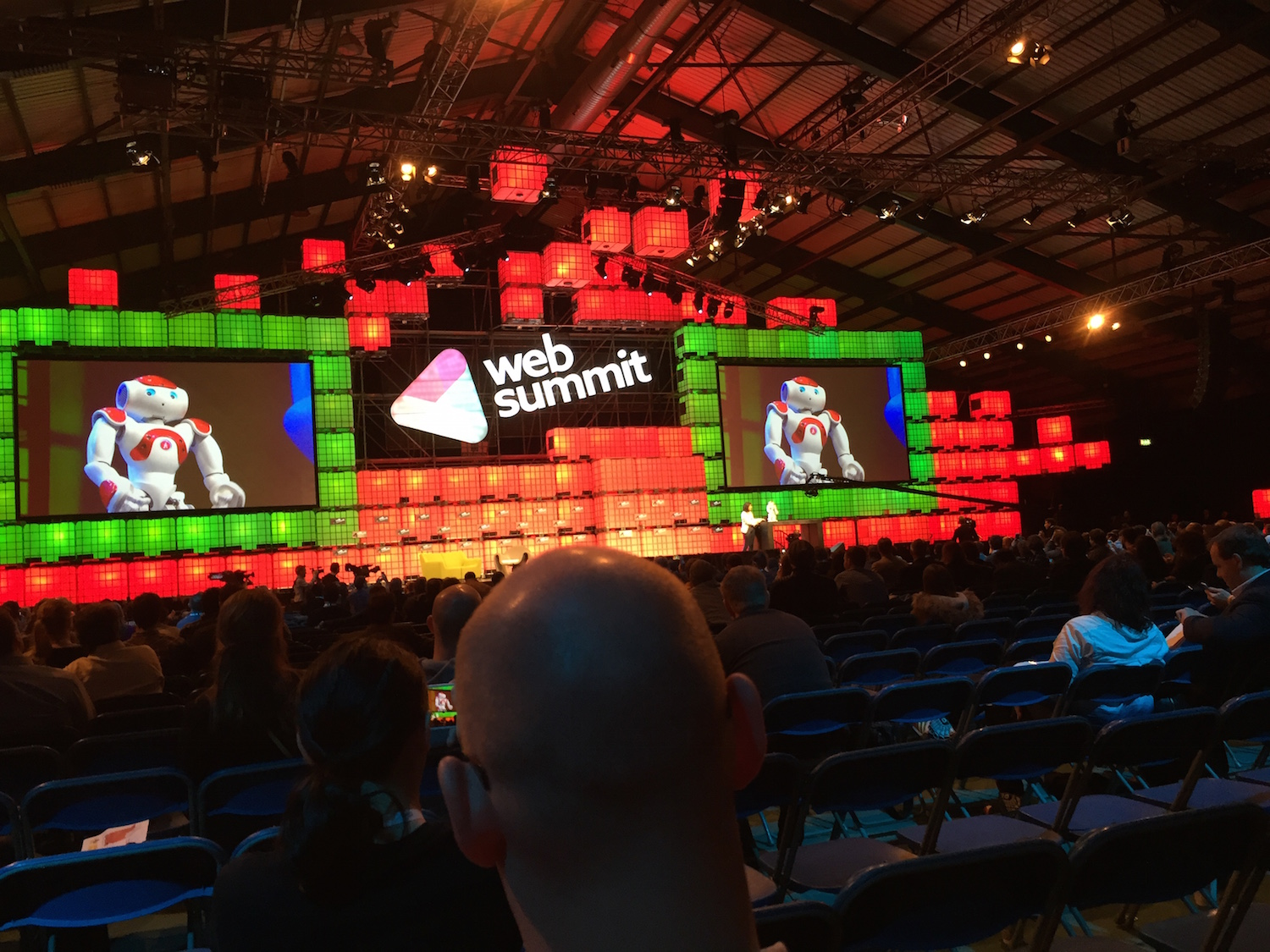 Web Summit Centre stage